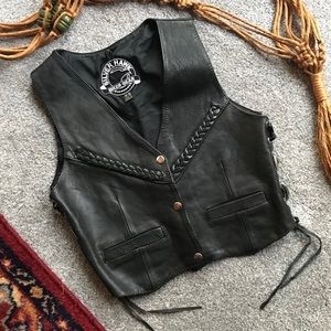 Silver Hawk Biker Gear Leather Vest